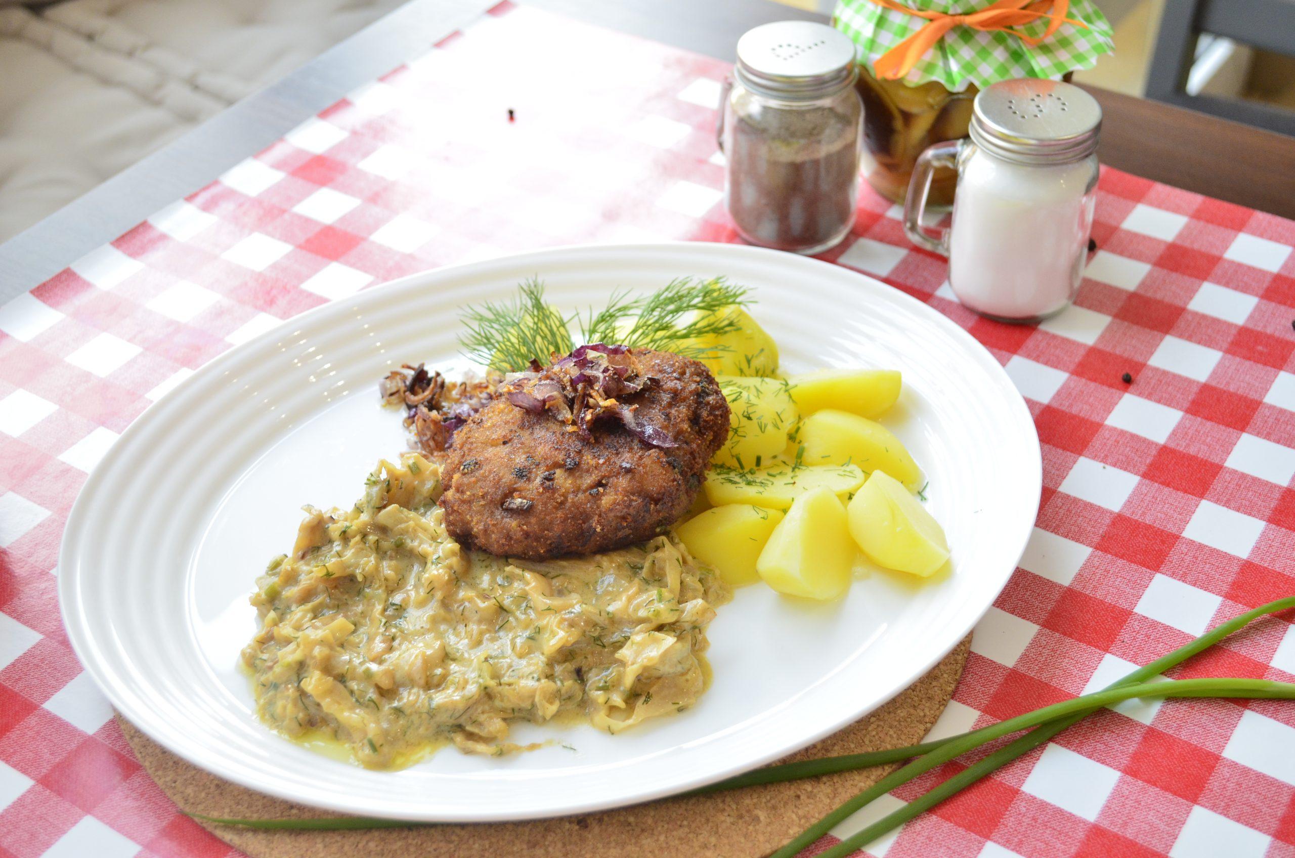 Mielone z ziemniakami z sałatką - tanie i domowe obiady w Rzeszowie